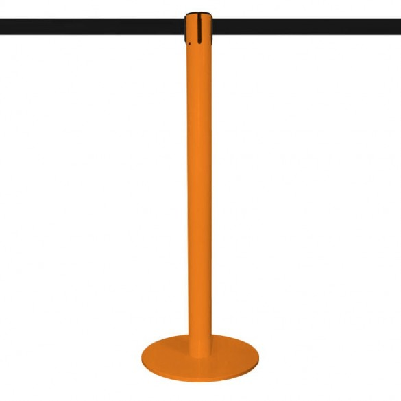 Poteau inox Orange laqué à sangle 320cm - MASTER