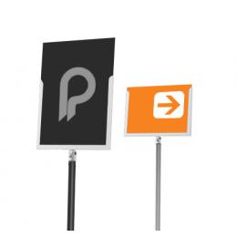 """Porte-affiche A4 pour poteaux """"Line"""" (Portrait ou paysage) - LINE"""