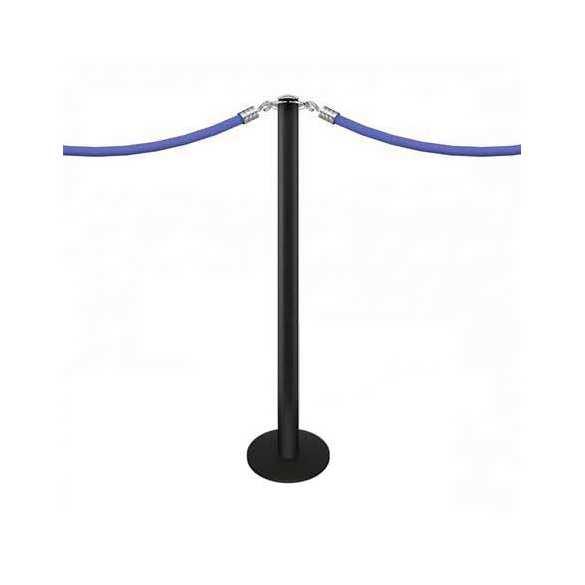 """Poteau à corde à visser au sol """"Design"""" (noir) - FIX"""