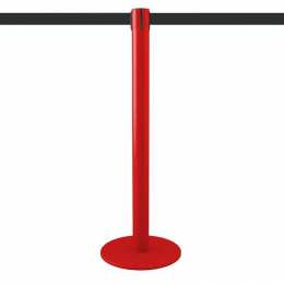 Poteau à sangle 2,5m (rouge, personnalisable) - MASTER