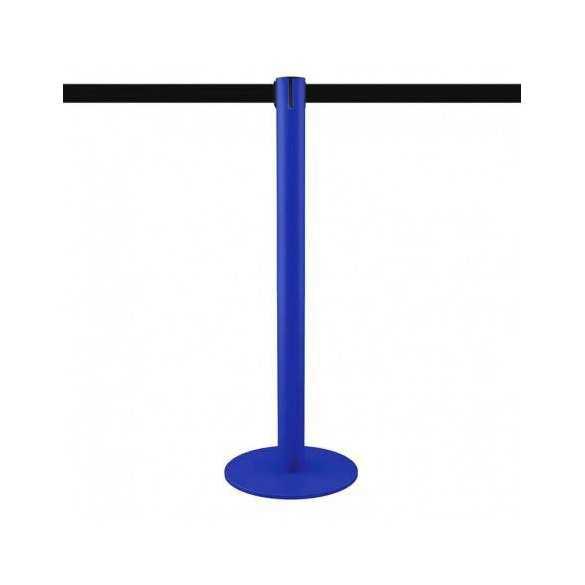 Poteau de balisage bleu 3,7m (bande personnalisable) - MASTER