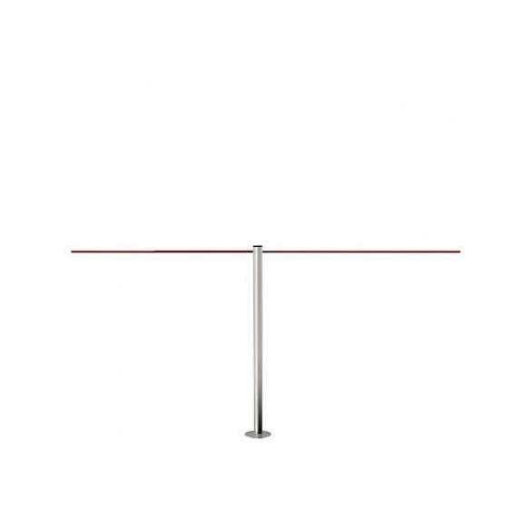 Potelet de mise à distance extérieur à fixer - inox brossé (45cm) - LINE MINI FIX