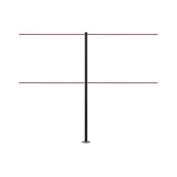 Kordelständer für 2 Kordeln - Schwarz - LINE DUAL
