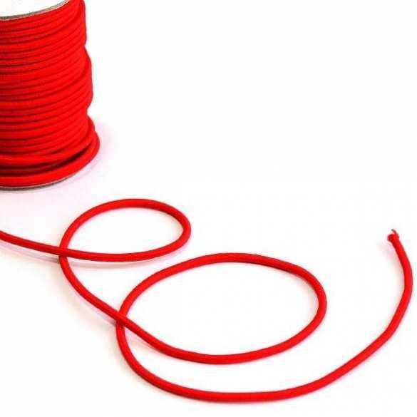 Elastische Absperrschnur rot