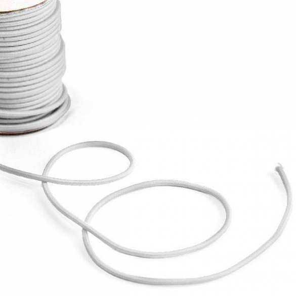Bobine de corde semi-élastique blanche (25m)