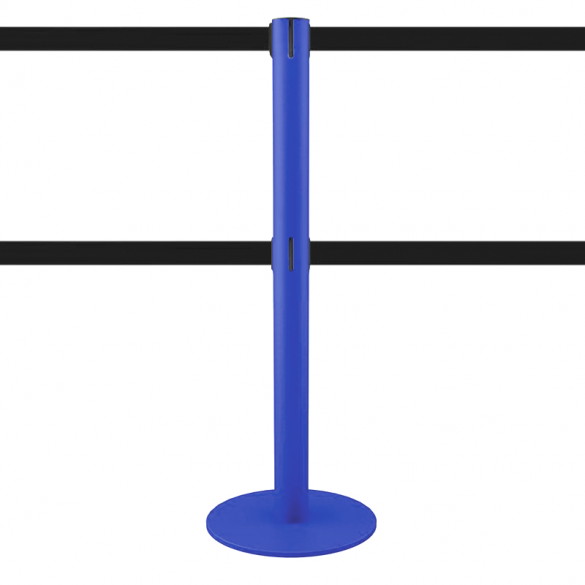 Poteau à double sangle 2,5 mètres (bleu, personnalisable) - MASTER DUAL