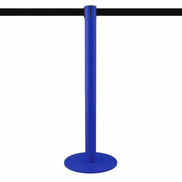 Afzetpaal blauw met lint 3,2m