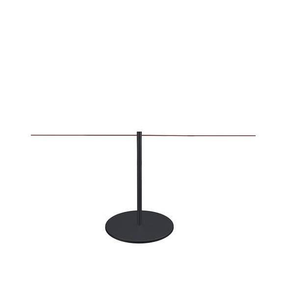 Afzetpaal voor museum 45cm - zwart - LINE MINI