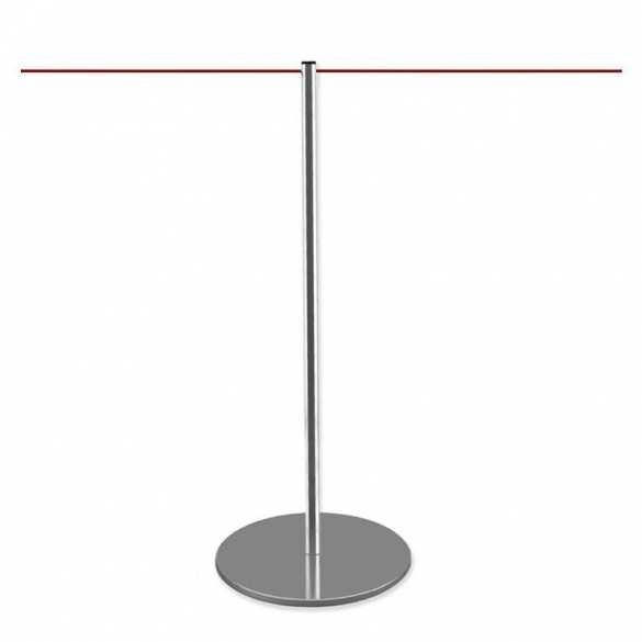 Poteau de délimitation chromé - LINE
