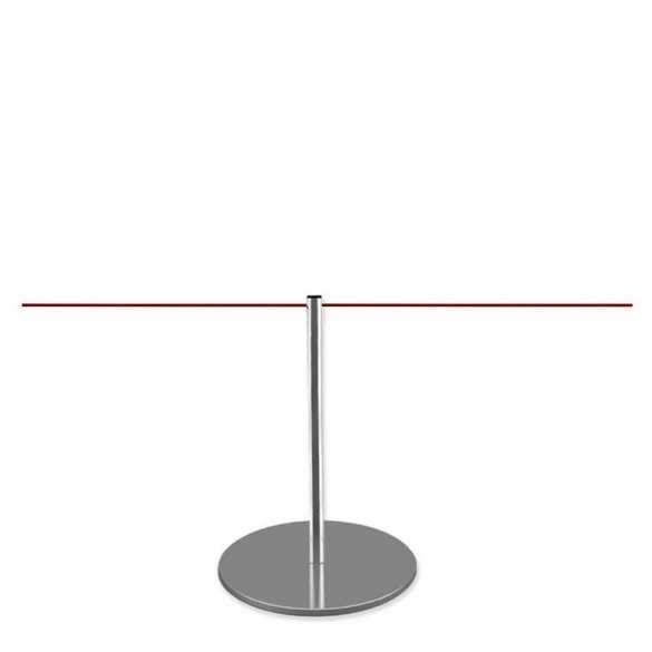 Poteau de mise à distance 45cm (chromé) - LINE MINI
