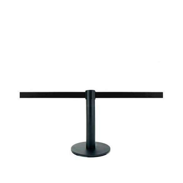 Mini-poteau de délimitation, 2,5m (ruban noir personnalisable) - MASTER MINI