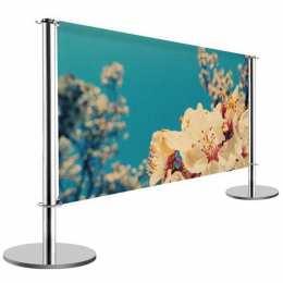 Barrière publicitaire chromée (1m50 ou 2m) - BANNER