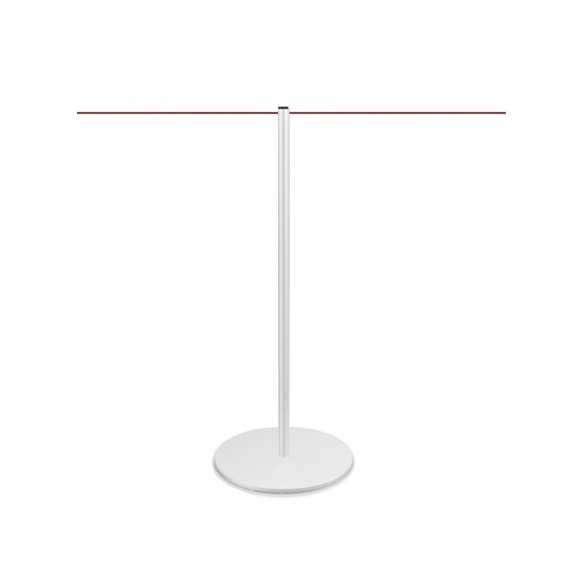 Poteau de foule à corde (blanc) - LINE