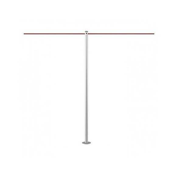 Poteau de mise à distance à fixer (argenté) - LINE FIX
