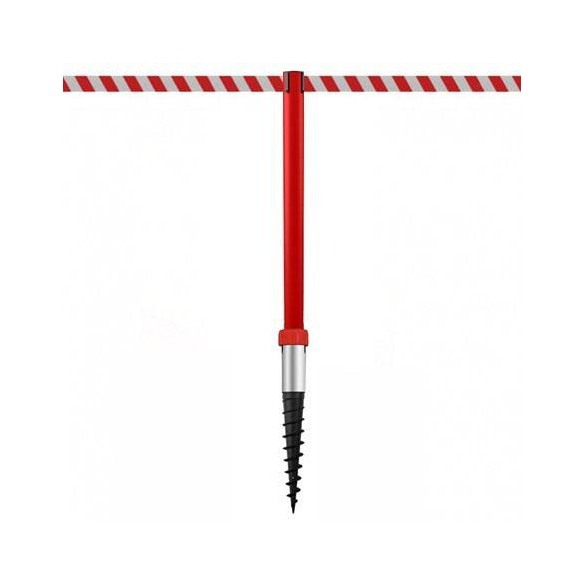 Afzetpaal om in de grond te bevestigen (370cm) - Rood - INDUSTRIAL DUOFIX