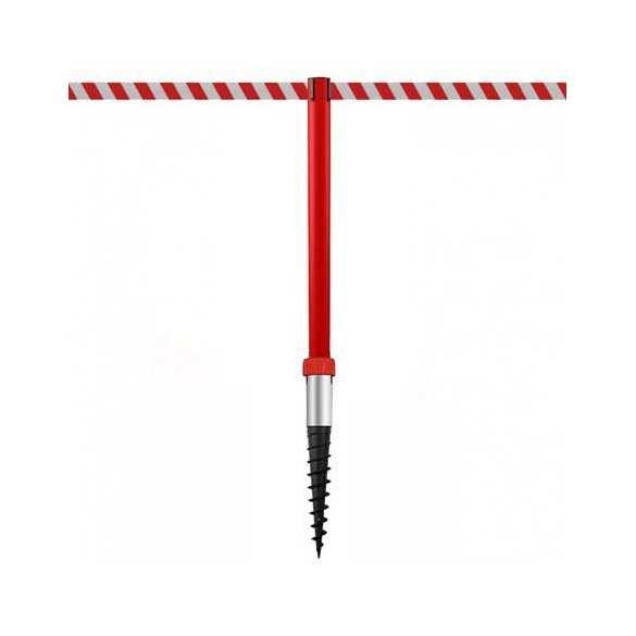 Poteau de balisage à enfoncer dans le sol (370cm) - Rouge - INDUSTRIAL DUOFIX