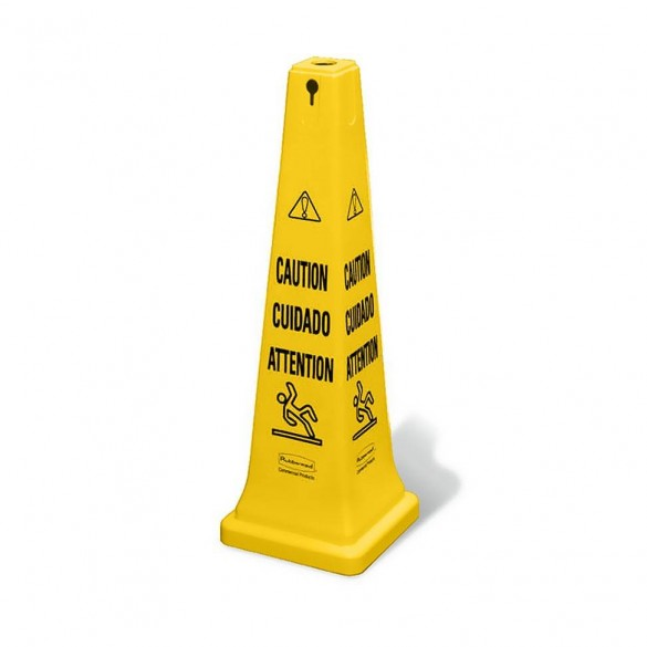 "Cône ""Sol glissant"" 95cm (Sangle en option) - SAFETY CONE"