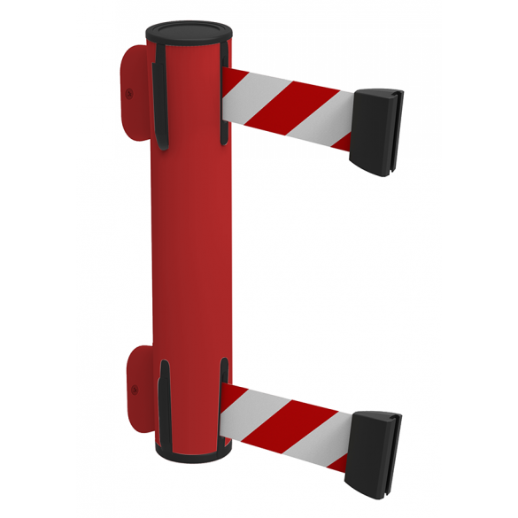 Dubbele wandcassette, rood - WALL DUAL