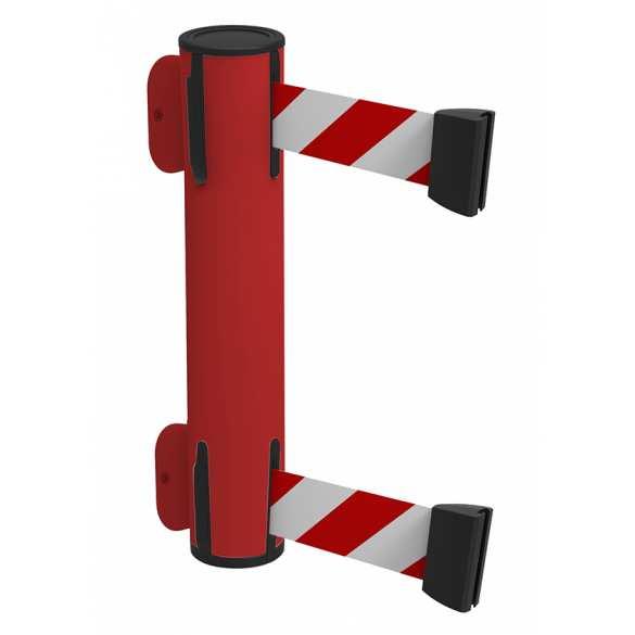 Gurtbandkassette Double weiß/rot