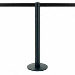 Poteau à sangle 2,5m (noir, personnalisable) - LIMIT