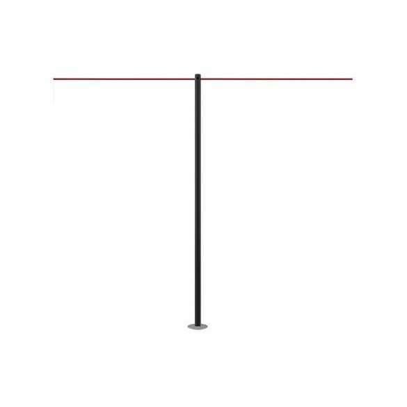 Poteau / Barrière de protection à fixer (noir) - LINE FIX