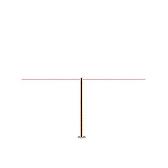 Poteau à fixer (Laiton brossé) - LINE MINI FIX