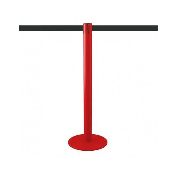 Poteau de balisage rouge 3,7m (sangle personnalisable) - MASTER