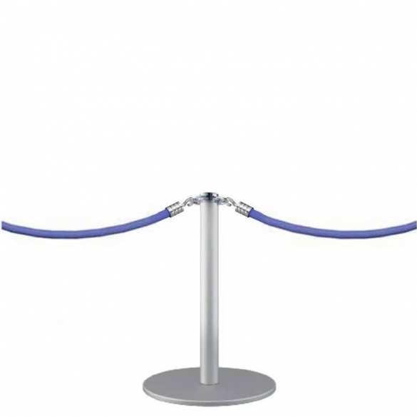 Petit poteau à cordon argenté (45cm) - DESIGN MINI