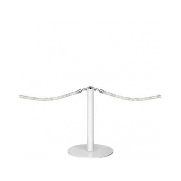 Mini poteau d'accueil à cordon (blanc laqué) - DESIGN
