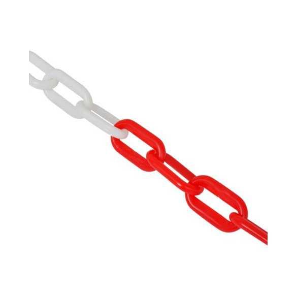 Kunststoff Absperrkette weiß rot für Arbeitsbereichen