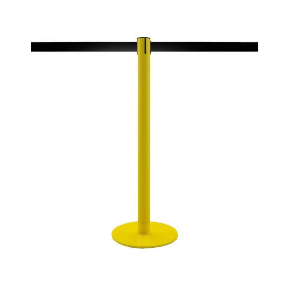 Poteau à sangle 3,2m (jaune, personnalisable) - MASTER