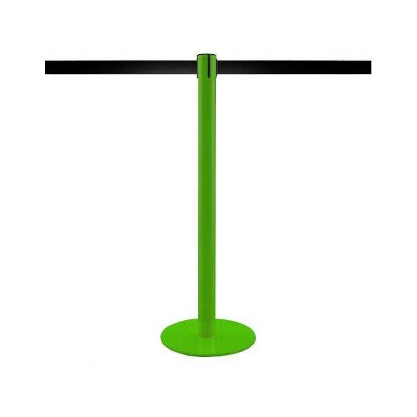 Poteau de balisage à sangle 3,2m (Vert, personnalisable)