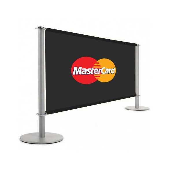 Barrière publicitaire gris argenté (1m50 ou 2m) - BANNER